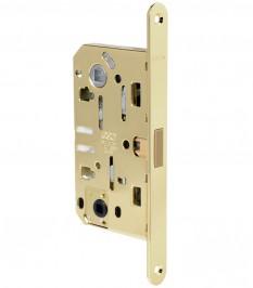 Магнитна брава за интериорна врата WC - Медиана Поларис - месинг