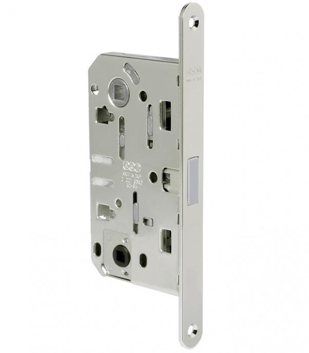 Магнитна брава за интериорна врата WC - Медиана Поларис - никел