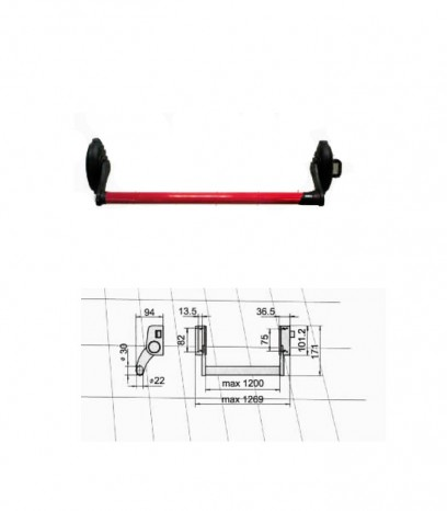 Антипаник брава - хоризонтална греда с едноточково заключване