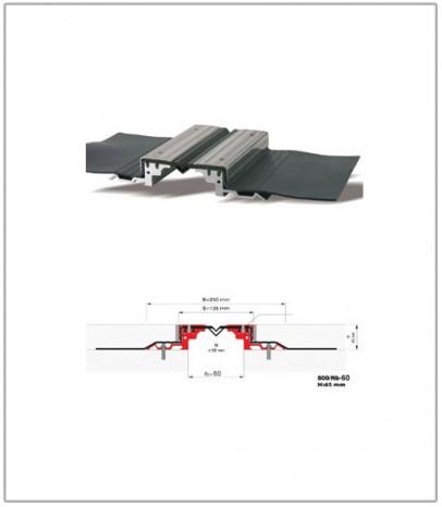 Дилатационна фуга - водонепропусклива - профил 500/Nb -060 Н45 мм