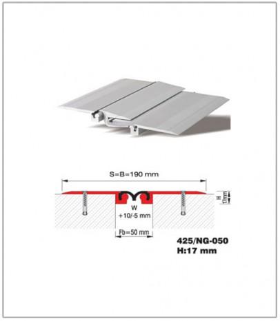 Дилатационна фуга - подова - профил 500/Nb -060 Н45 мм