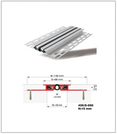 Дилатационна фуга - подова - профил 426/G-50
