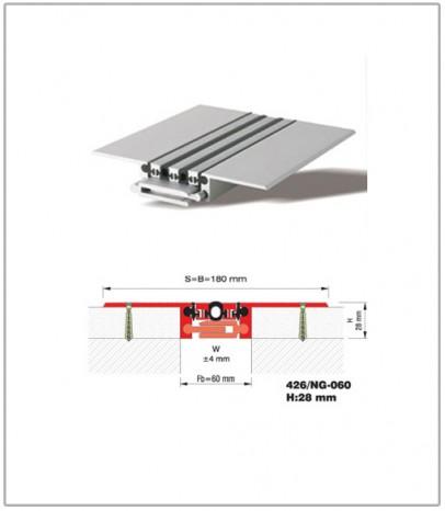Дилатационна фуга - подова - профил 426/NG 60