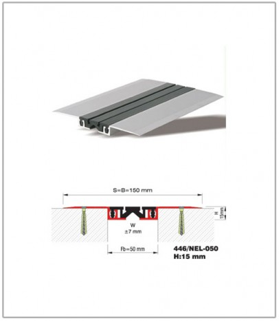 Дилатационна фуга - подова - профил 446/NEL 50