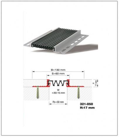 Дилатационна фуга - стенни и таванни - профил 321-050