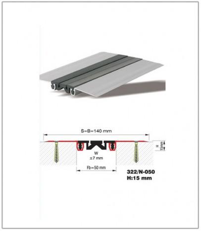 Дилатационна фуга - стенни и таванни - профил 322/N-50