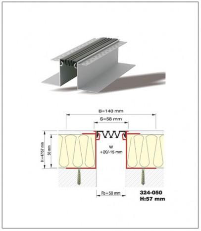 Дилатационна фуга - стенни и таванни - профил 324-50