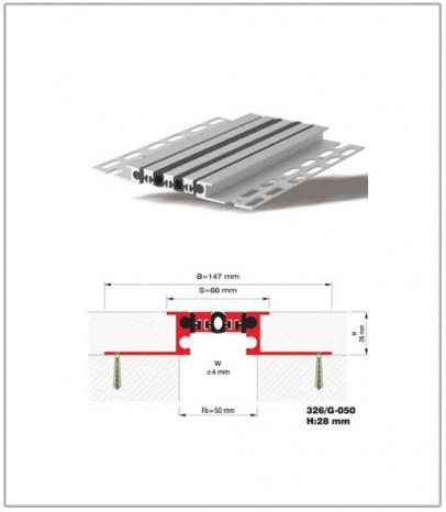 Дилатационна фуга - стенни и таванни - профил 326/G-50