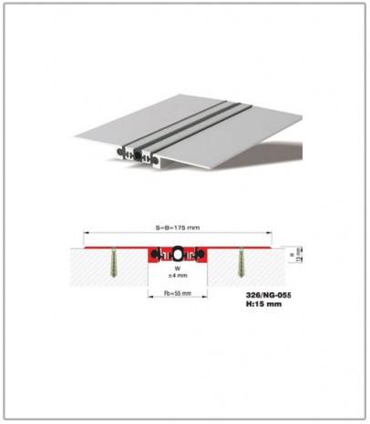 Дилатационна фуга - стенни и таванни - профил 326/NG- 55