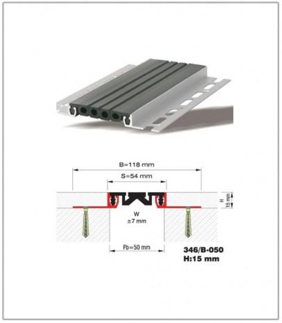 Дилатационна фуга - стенни и таванни - профил 346/B-50