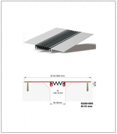 Дилатационна фуга - стенни и таванни - профил G320-50