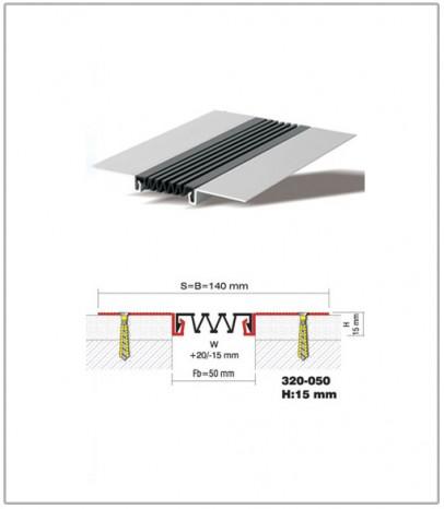 Дилатационна фуга - стенни и таванни - профил 320-50