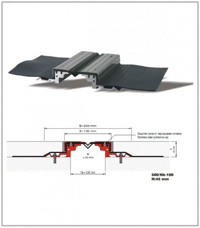 Дилатационна фуга - водонепропусклива - 500/Nb - 100 Н45мм
