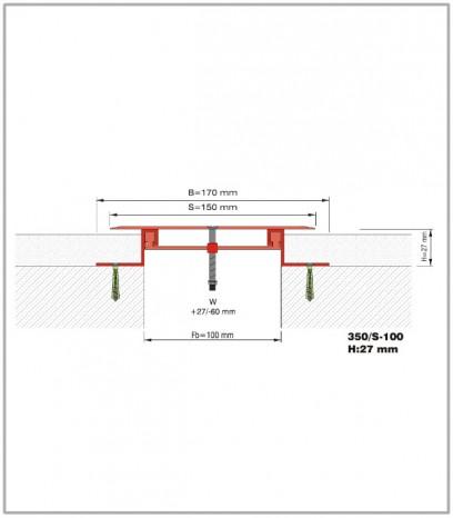 Дилатационна фуга - сеизмична - 350/S - 100 Н27мм