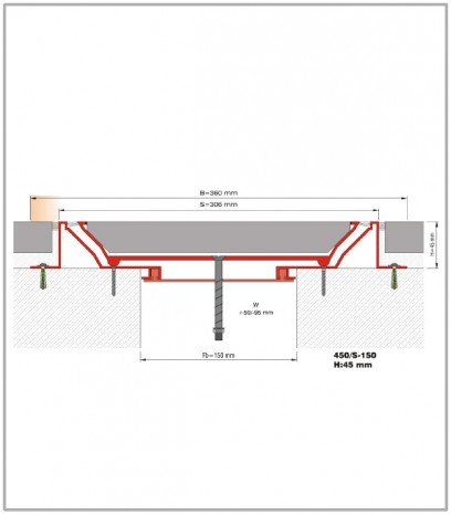 Дилатационна фуга - сеизмична - 450/S - 150 Н45мм