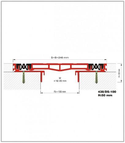 Дилатационна фуга - сеизмична - 438/DS - 100 Н23мм
