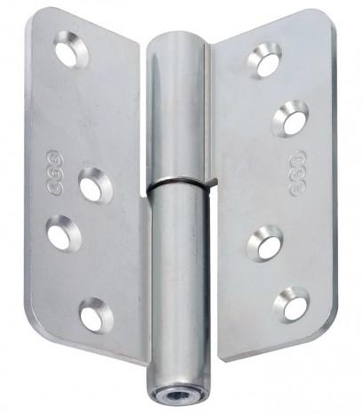 Регулираша панта за безфалцова врата R60 ф16 Дясна(Dx) - никел