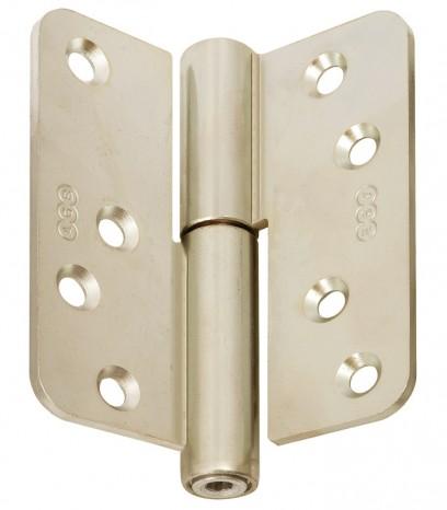 Регулираша панта за безфалцова врата R60 ф16 Дясна(Dx) - месинг