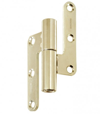 Регулираша панта за безфалцова врата R30 ф14 Дясна(Dx) - месинг