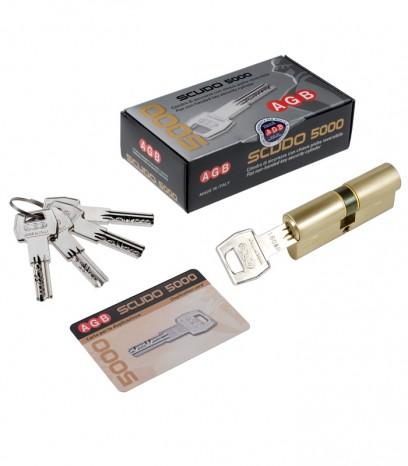 Ямков секретен патрон за врата модел SCUDO 5000 PS - месинг