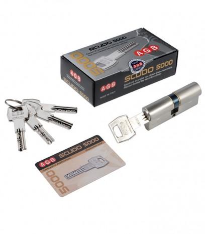 Ямков секретен патрон за врата модел SCUDO 5000 PS - никел