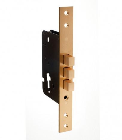 Брава за входна врата - патронна допълнителна S.A.B. - месинг