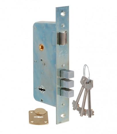 Касова основна брава за входна врата - S.A.B. - никел