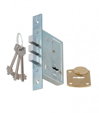 Касова допълнителна брава за входна врата - S.A.B. - никел