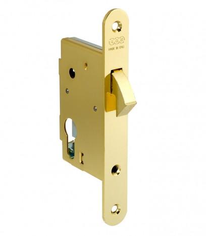 Брава за плъзгаща врата със секрет - месинг
