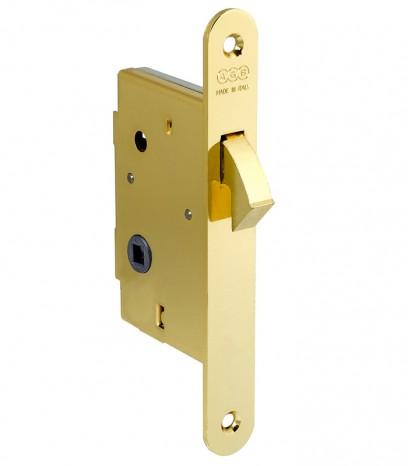 Брава за плъзгаща врата за WC - месинг