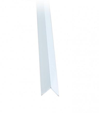 Ъгъл за стена последващ монтаж - бяло