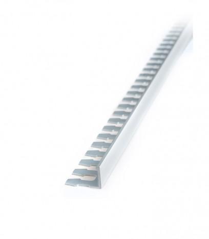 Завършващ L-профил край на настилка - сребро мат