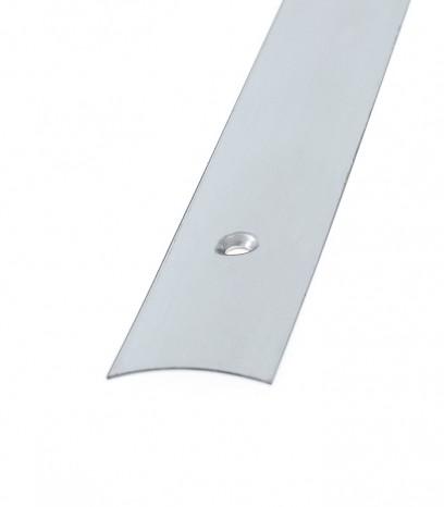 Преходна подова лайсна с отоври за равен преход - сребро мат