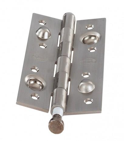 Панта заключваща за безфалцова врата - хром сатен