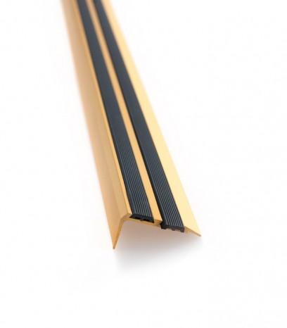 Ръб за стъпало последващ монтаж с гума модел 36527 - злато мат