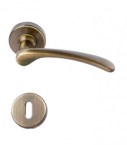 Дръжка за врата - модел 220 с розетка - графитен месинг