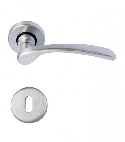 Дръжка за врата - модел 220 с розетка - хром сатен