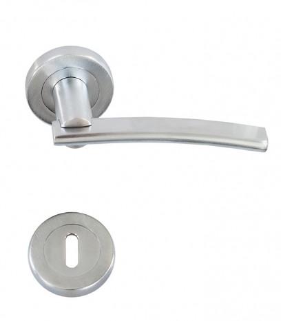 Дръжка за врата - модел 2390 (OZKANLAR) с розетка - хром сатен