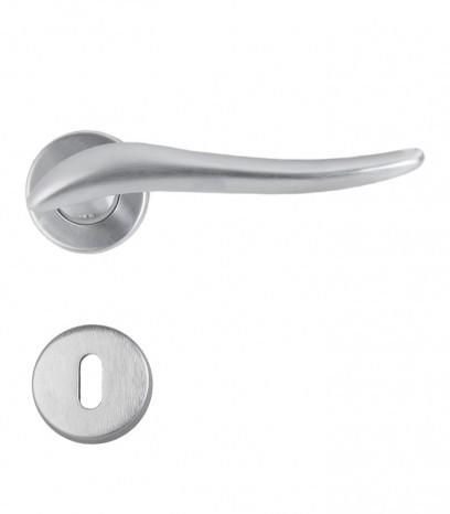 Дръжка за врата - модел 120 с розетка - хром сатен