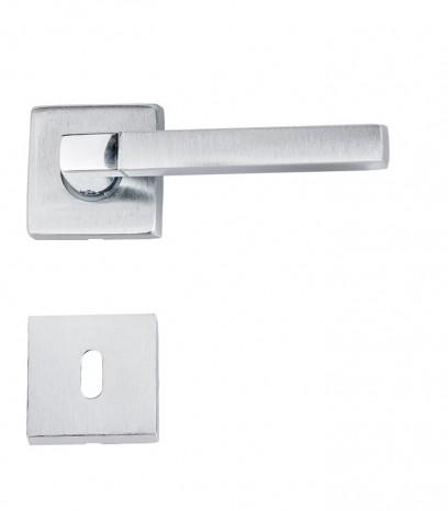 Дръжка за врата - модел 1600 с розетка - хром сатен + хром
