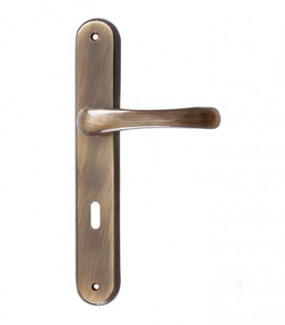 Дръжка за врата - модел 161 с шилд - графитен месинг